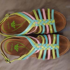 Dansko Multi-Colored Strappy Sandals Size 38